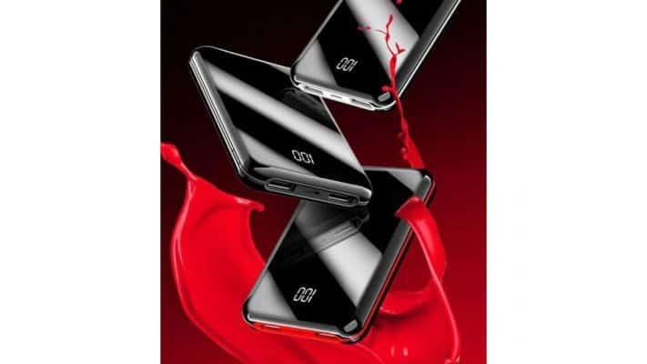 Chargeur Portable Noir Blanc Rouge