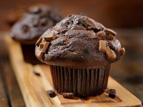 Muffin au chocolat végan