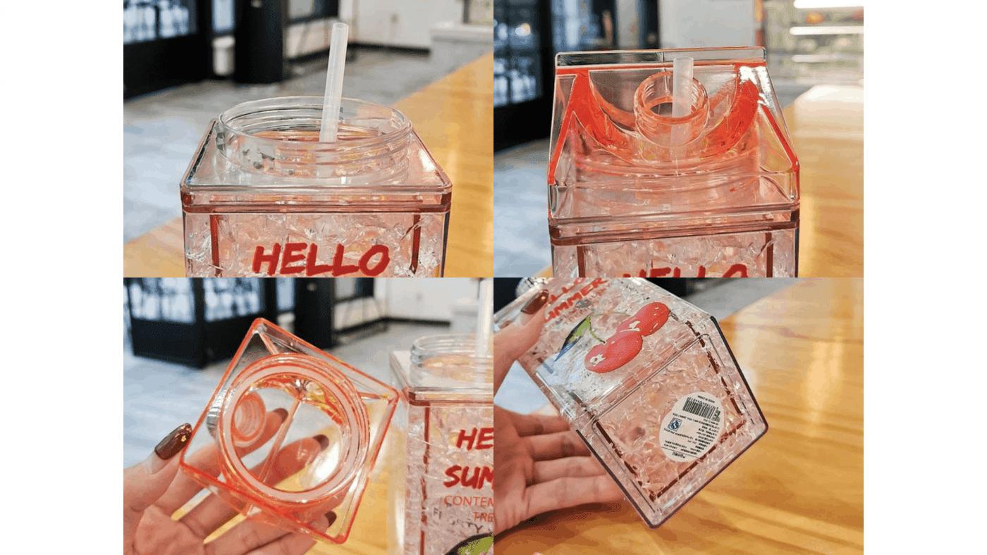 Brique de jus en carton de lait éléments