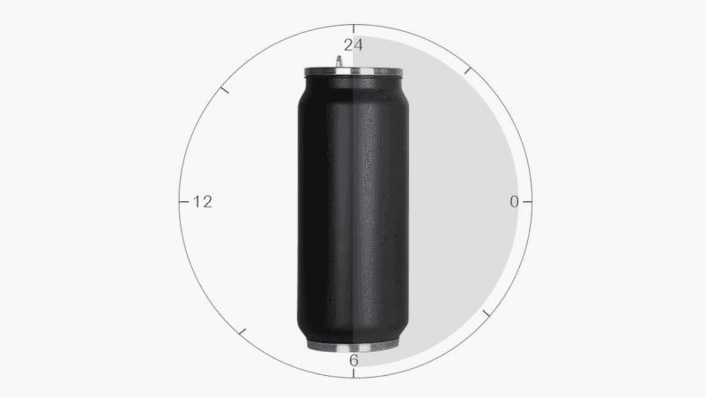 Canette en acier inoxydable isolation 12 à 24 heures