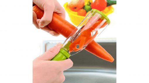 Éplucheur à récipient carotte