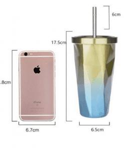 Tasse en acier inoxydable dimensions