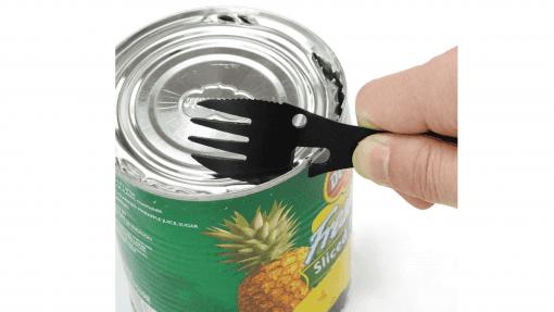 Fourchette multifonction ouvre-boîte de conserve